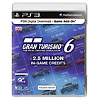 more details on PSN Live Networkd Card - 2.5 Million Gran Turismo 6 Credits.