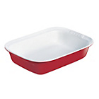 more details on Pyrex Ceramic Rectangular Roaster - 31cm x 20cm Red.
