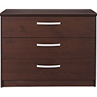 more details on New Hallingford 3 Drawer Wide Bedside Chest - Wenge Effect.