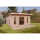more details on Forest Mendip Wooden Log Cabin - 16 x 13ft.