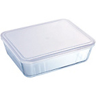 more details on Pyrex 4.0 Litre Glass Rectangular Dish with Plastic Lid.