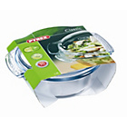 more details on Pyrex 1.5 Litre Glass Round Easy Grip Casserole Dish.