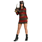 more details on Halloween Ladies' Miss Krueger Costume - Size 10-12.