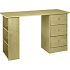 more details on New Malibu 3 Drawer Desk - Maple Effect.