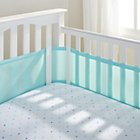 more details on BreathableBaby 4 Sided Cot Liner - Aqua Mist.