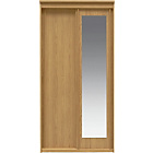 more details on New Hallingford 2 Door Sliding Mirror Wardrobe - Oak Effect.