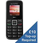 more details on EE Alcatel 10.10 Mobile Phone - Black.