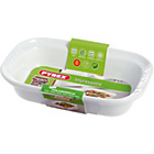 more details on Pyrex Ceramic Rectangular Roaster - 22cm x 15 cm White.