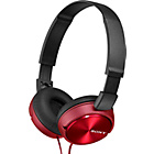 more details on Sony ZX310 On-Ear Headphones - Red.