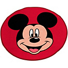 more details on Disney Mickey Mouse Head Shaped Rug - Red.