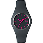 more details on Ice Watch Grey and Pink Silicone Strap Watch.