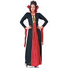 more details on Halloween Ladies' Gothic Vampiress Costume - Size 10-12.