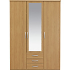 more details on Collection New Hallingford 3 Dr 3 Drw Wardrobe - Oak Effect.