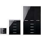 more details on New Sywell 3 Piece 3 Door Wardrobe Package - White & Black.