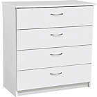 more details on Cheval 4 Drawer Chest - White.