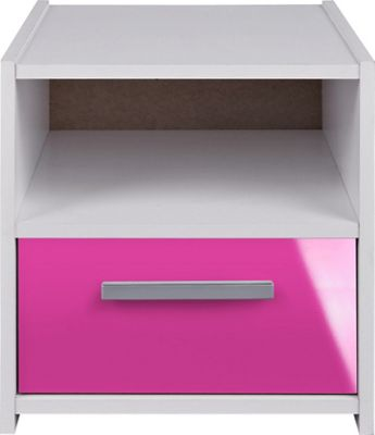 Bedside Cabinets White Gloss Cabinet White-pink Gloss