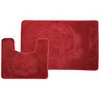 more details on Rose 2 Piece Bath Set - Red.