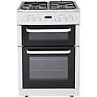 more details on Bush BDFT60W Single Dual Fuel Cooker - White/Ins/Del/Rec.