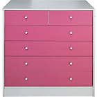 more details on New Malibu 4+2 Drawer Chest - Pink on White.