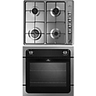 more details on New World 601F/GHU601 Electric Oven and Gas Hob - S/Steel.