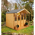 more details on Forest Maplehurst Wooden Summerhouse - 7 x 7ft.