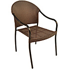 more details on San Tropez Chair - Set of 2 - Brown.