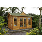 more details on Forest Alderley Wooden Log Cabin - 14 x 10ft.