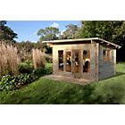 more details on Forest Mebury Wooden Log Cabin - 13 x 10ft.
