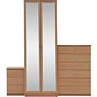 more details on Collection Cheval 3 Pc 2 Dr Wardrobe Package - Beech Effect.