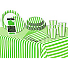 more details on Decorative Stripes Party Kit - Lime Green.