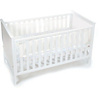 more details on BreathableBaby Mesh Liner for Solid End Cots - White Mist.