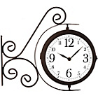 more details on Outdoor Wall Mounted Double Sided Clock and Thermometer.