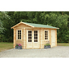 more details on Forest Ripon Wooden Corner Cabin - 13 x 9ft.