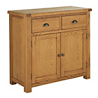more details on Kent 2 Door 2 Drawer Sideboard - Solid Oak & Oak Veneer.