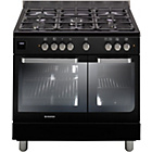 more details on Hoover HGD9395BL Dual Fuel Range Cooker - Black.