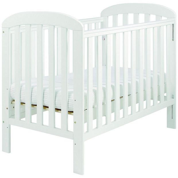 buy east coast nursery anna dropside cot white at argos. Black Bedroom Furniture Sets. Home Design Ideas