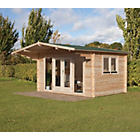more details on Forest Abberley Wooden Log Cabin - 15 x 10ft.