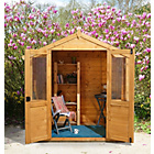 more details on Forest Barleywood Wooden Summerhouse - 7 x 5ft.