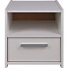 more details on HOME New Sywell Kids 1 Drawer Bedside Cabinet - White.