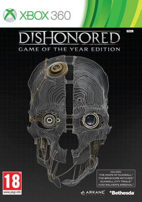 Dishonoured Game of the Year Xbox 360 Game