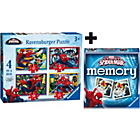 more details on Ravensburger Marvel Spiderman 4 in a box Puzzle & Memory