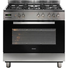 more details on Candy CCG9M52PX 90cm Dual Fuel Range Cooker - S Steel.
