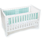 more details on BreathableBaby Mesh Liner for Solid End Cots - Aqua Mist.