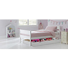 more details on Faris Single Bed Frame with Storage - White.