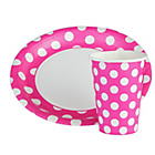 more details on Decorative Dots Party Kit - Pink.