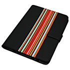 more details on Universal 7/8 Inch Striped PVC Tablet Case - Black.