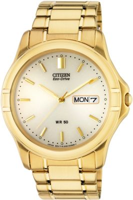 buy citizen s gold plated eco drive bracelet at