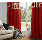 more details on Heart of House Chrissie Lined Curtains - 117 x 183cm - Red.