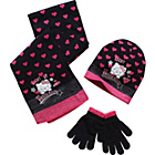 more details on Hello Kitty Girls' Purple Hat, Gloves and Scarf Set.
