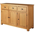 more details on Kent 3 Door 3 Drawer Sideboard - Solid Oak & Oak Veneer.